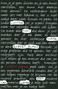 Bart Van Lierde - Luister niet naar Robert Blake